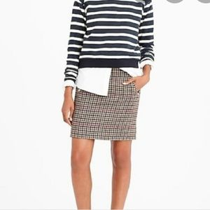 J. Crew houndstooth zip pocket mini skirt 10